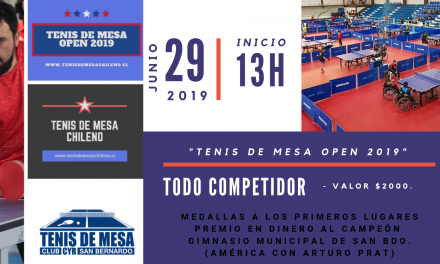 TENIS DE MESA OPEN 2019, CLUB CYR